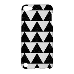 TRIANGLE2 BLACK MARBLE & WHITE LINEN Apple iPod Touch 5 Hardshell Case