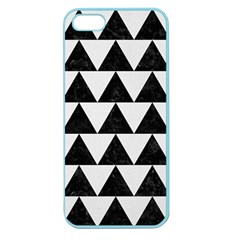 TRIANGLE2 BLACK MARBLE & WHITE LINEN Apple Seamless iPhone 5 Case (Color)