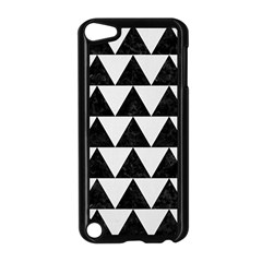 TRIANGLE2 BLACK MARBLE & WHITE LINEN Apple iPod Touch 5 Case (Black)