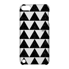TRIANGLE2 BLACK MARBLE & WHITE LINEN Apple iPod Touch 5 Hardshell Case with Stand