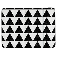 TRIANGLE2 BLACK MARBLE & WHITE LINEN Samsung Galaxy Tab 7  P1000 Flip Case