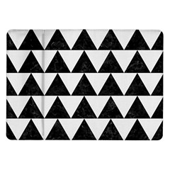 TRIANGLE2 BLACK MARBLE & WHITE LINEN Samsung Galaxy Tab 10.1  P7500 Flip Case