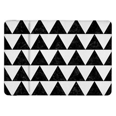 TRIANGLE2 BLACK MARBLE & WHITE LINEN Samsung Galaxy Tab 8.9  P7300 Flip Case