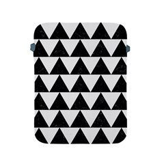 TRIANGLE2 BLACK MARBLE & WHITE LINEN Apple iPad 2/3/4 Protective Soft Cases