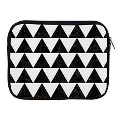 TRIANGLE2 BLACK MARBLE & WHITE LINEN Apple iPad 2/3/4 Zipper Cases