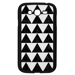 TRIANGLE2 BLACK MARBLE & WHITE LINEN Samsung Galaxy Grand DUOS I9082 Case (Black)