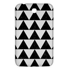 TRIANGLE2 BLACK MARBLE & WHITE LINEN Samsung Galaxy Tab 3 (7 ) P3200 Hardshell Case