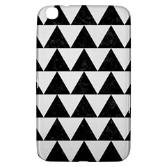 TRIANGLE2 BLACK MARBLE & WHITE LINEN Samsung Galaxy Tab 3 (8 ) T3100 Hardshell Case