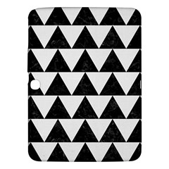 TRIANGLE2 BLACK MARBLE & WHITE LINEN Samsung Galaxy Tab 3 (10.1 ) P5200 Hardshell Case