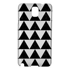 Triangle2 Black Marble & White Linen Samsung Galaxy Note 3 N9005 Hardshell Case by trendistuff