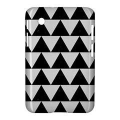 Triangle2 Black Marble & White Linen Samsung Galaxy Tab 2 (7 ) P3100 Hardshell Case  by trendistuff
