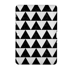TRIANGLE2 BLACK MARBLE & WHITE LINEN Samsung Galaxy Tab 2 (10.1 ) P5100 Hardshell Case