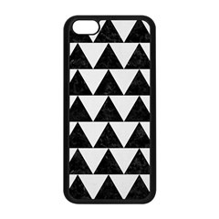 TRIANGLE2 BLACK MARBLE & WHITE LINEN Apple iPhone 5C Seamless Case (Black)