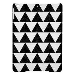 TRIANGLE2 BLACK MARBLE & WHITE LINEN iPad Air Hardshell Cases