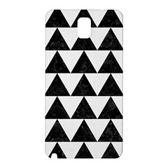 TRIANGLE2 BLACK MARBLE & WHITE LINEN Samsung Galaxy Note 3 N9005 Hardshell Back Case
