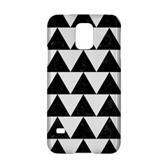 TRIANGLE2 BLACK MARBLE & WHITE LINEN Samsung Galaxy S5 Hardshell Case