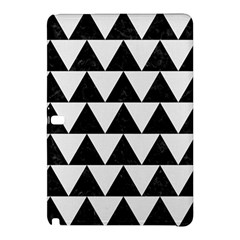 TRIANGLE2 BLACK MARBLE & WHITE LINEN Samsung Galaxy Tab Pro 12.2 Hardshell Case
