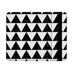 TRIANGLE2 BLACK MARBLE & WHITE LINEN Samsung Galaxy Tab Pro 8.4  Flip Case