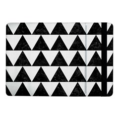 TRIANGLE2 BLACK MARBLE & WHITE LINEN Samsung Galaxy Tab Pro 10.1  Flip Case