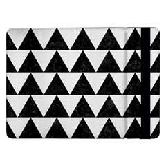 TRIANGLE2 BLACK MARBLE & WHITE LINEN Samsung Galaxy Tab Pro 12.2  Flip Case