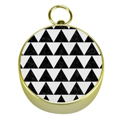 TRIANGLE2 BLACK MARBLE & WHITE LINEN Gold Compasses