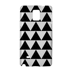 TRIANGLE2 BLACK MARBLE & WHITE LINEN Samsung Galaxy Note 4 Hardshell Case