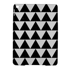 TRIANGLE2 BLACK MARBLE & WHITE LINEN iPad Air 2 Hardshell Cases