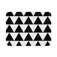 Triangle2 Black Marble & White Linen Double Sided Flano Blanket (mini)  by trendistuff