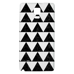 TRIANGLE2 BLACK MARBLE & WHITE LINEN Galaxy Note 4 Back Case