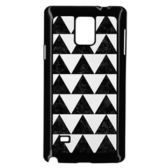 TRIANGLE2 BLACK MARBLE & WHITE LINEN Samsung Galaxy Note 4 Case (Black)