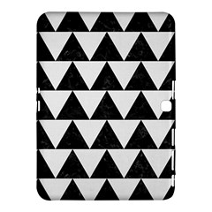 TRIANGLE2 BLACK MARBLE & WHITE LINEN Samsung Galaxy Tab 4 (10.1 ) Hardshell Case