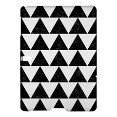 TRIANGLE2 BLACK MARBLE & WHITE LINEN Samsung Galaxy Tab S (10.5 ) Hardshell Case