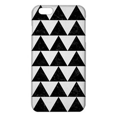 TRIANGLE2 BLACK MARBLE & WHITE LINEN iPhone 6 Plus/6S Plus TPU Case
