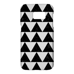 TRIANGLE2 BLACK MARBLE & WHITE LINEN Samsung Galaxy S7 Hardshell Case