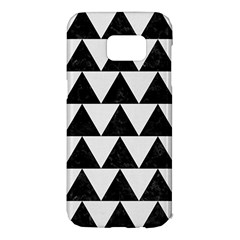 TRIANGLE2 BLACK MARBLE & WHITE LINEN Samsung Galaxy S7 Edge Hardshell Case