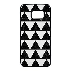 TRIANGLE2 BLACK MARBLE & WHITE LINEN Samsung Galaxy S7 Black Seamless Case