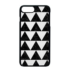TRIANGLE2 BLACK MARBLE & WHITE LINEN Apple iPhone 7 Plus Seamless Case (Black)