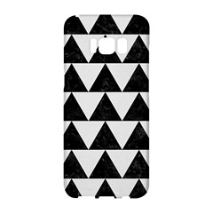 TRIANGLE2 BLACK MARBLE & WHITE LINEN Samsung Galaxy S8 Hardshell Case