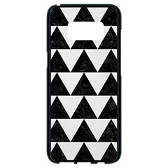 TRIANGLE2 BLACK MARBLE & WHITE LINEN Samsung Galaxy S8 Black Seamless Case