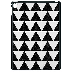 TRIANGLE2 BLACK MARBLE & WHITE LINEN Apple iPad Pro 9.7   Black Seamless Case