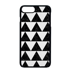 TRIANGLE2 BLACK MARBLE & WHITE LINEN Apple iPhone 8 Plus Seamless Case (Black)