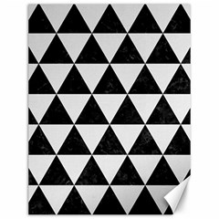 Triangle3 Black Marble & White Linen Canvas 12  X 16   by trendistuff