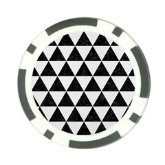 Triangle3 Black Marble & White Linen Poker Chip Card Guard (10 Pack) by trendistuff