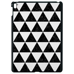 Triangle3 Black Marble & White Linen Apple Ipad Pro 9 7   Black Seamless Case by trendistuff
