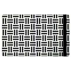 Woven1 Black Marble & White Linen Apple Ipad 3/4 Flip Case by trendistuff