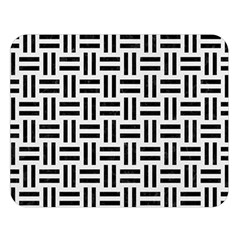 Woven1 Black Marble & White Linen Double Sided Flano Blanket (large)  by trendistuff
