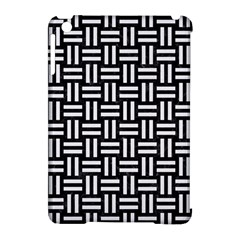 Woven1 Black Marble & White Linen (r) Apple Ipad Mini Hardshell Case (compatible With Smart Cover) by trendistuff