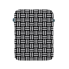 Woven1 Black Marble & White Linen (r) Apple Ipad 2/3/4 Protective Soft Cases by trendistuff