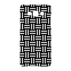 Woven1 Black Marble & White Linen (r) Samsung Galaxy A5 Hardshell Case  by trendistuff