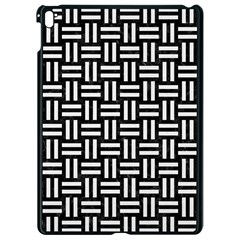 Woven1 Black Marble & White Linen (r) Apple Ipad Pro 9 7   Black Seamless Case by trendistuff